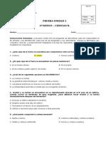 PRUEBA DE LA UNIDAD 2 CIENCIAS NATURALES