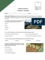 PRUEBA DE LA UNIDAD 3 DE HISTORIA Y GEOGRAFIA 4º BASICO