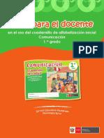 Guía Para El Docente en El Uso Del Cuadernillo de Alfabetización Inicial Comunicación 1er. Grado