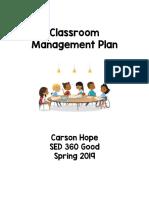 360 classroom management plan