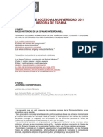 Programa historia de España selectividad 2011 Murcia