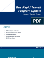 Bus Rapid Transit Program Update - March 26, 2020