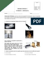 PRUEBA DE CIENCIAS NATURALES UNIDAD 1   3º BASICO