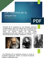 Los Filosofos de la Sospecha