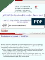 Sesión 1 GC Ecuaciones Diferenciales y Algebra Lineal