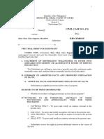 pre trial brief - DEFENDANT
