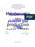 mantenimiento productio total trabajo planificacion y programacion