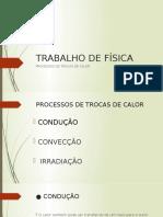 PROCESSOS DE TROCAS DE CALOR