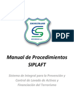 Manual de Procedimientos SIPLAFT Escoltrams Seguridad
