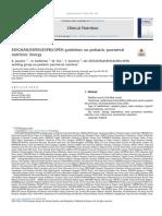 ESPGHAN/ESPEN/ESPR/CSPEN guidelines on pediatric parenteral nutrition