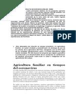 AGRICULTURA EN LA ETAPA DEL  CORONAVIRUS