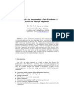 Best Practice for Implementing a Data Warehouse a Review for Strategic Alignment