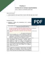 Práctica  Estructura del texto argumentativo
