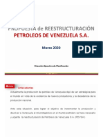 Venezuela - PDVSA Restructuring Proposal - Presidential Commission - 17 March 2020