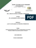 VIRTUALIZACION EDUCATIVA - CARLOS  SERRANO