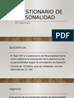 CUESTIONARIO DE PERSONALIDAD