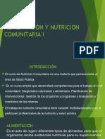 ALIMENTACIÓN Y NUT. COMUNITARIA I- DIAPOSITIVAS