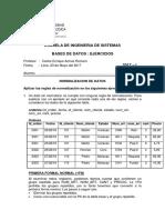 Ejercicios-Normalizacion-2017-I