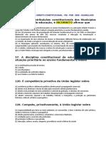 DIREITO CONSTITUCIONAL - QUESTÕES BÁSICA  - M.Lelis.doc