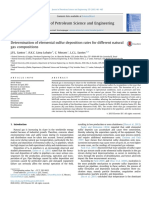 Determination of elemental sulfur deposition rates for different natural gas compositions