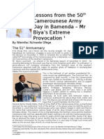 Lessons from Mr Biya's Army Day in Bamenda