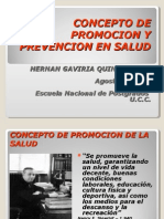 CONCEPTOS DE PROMOCION Y PREVENCION