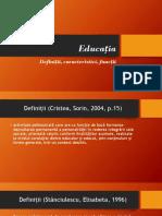 Educația definitii functii