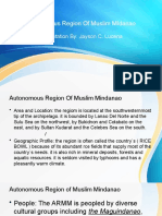 Autonomous Region Of Muslim MIdanao