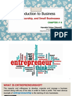 Introduction to Business - Chapter 6 - Entrepreneurship and Small Business