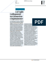 Ancora al vaglio i collegamenti tra Coronavirus e inquinamento - Il Corriere Adriatico del 29 aprile 2020