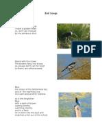 Bird Pic Poems