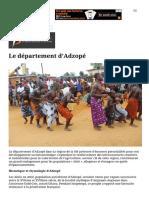 Rezo-Ivoire .net _ Le département d'Adzopé