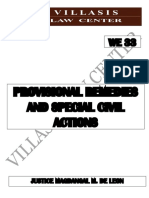 PROVISIONAL REMEDIES AND SPECIAL CIVIL ACTIONS BAR REVIEW GUIDE