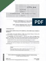 STPM Makroekonomi (2010)