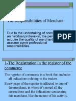 The Responsibilities of Merchants