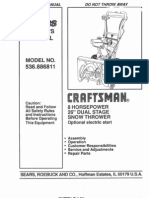 Craftsman 826 Owners Manual