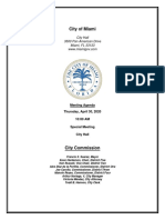 City of Miami Commission Meeting Agenda for April 30