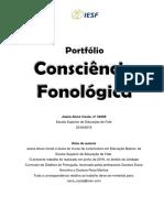 Portfólio Consciencia Fonológica