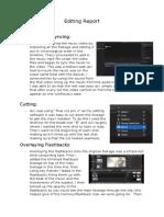 editing report