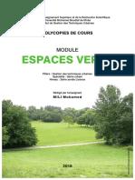 Cours Espaces Verts Dr Mili
