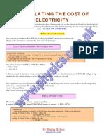 Electrical Bill Calculation