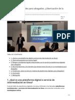 Plataformas digitales para abogados Uberización de la abogacía (1)