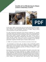 Artigo - The Integral Benefits of Iron Monitoring for Steam Generation Chemistry Control (IMPRESSO E LIDO)