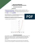 Funciones Expontenciales Y Logarimítcas