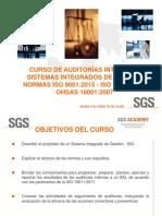 Curso Auditor Interno Sistemas Integrados de Gestión
