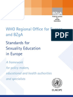 WHO Curriculum Matrix for CSE in Europe