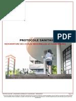 Protocole sanitaire sur la réouverture des écoles