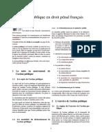 Action publique en droit pénal français(1)