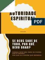 Autoridade Espiritual na Oração