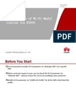 Introduction of Wi-Fi Modification via U2000